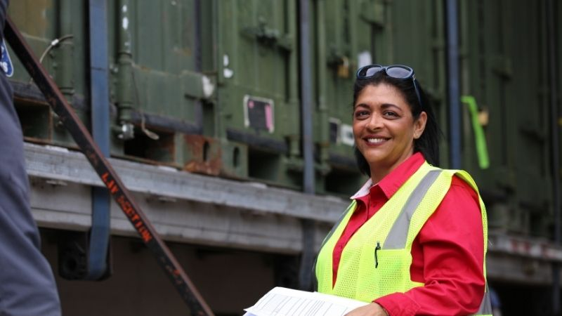 worker at container yard