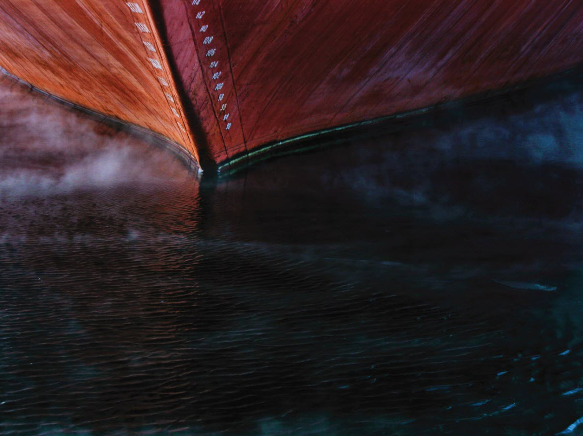 Abstract Ship in Water