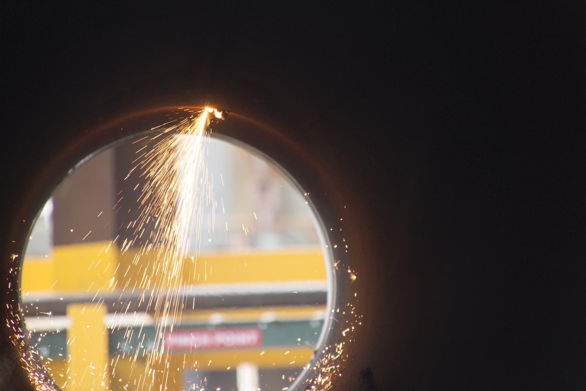 Welding from inside pipe