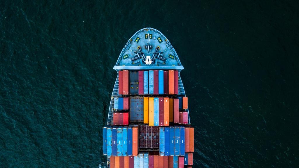 Cargo ship in water
