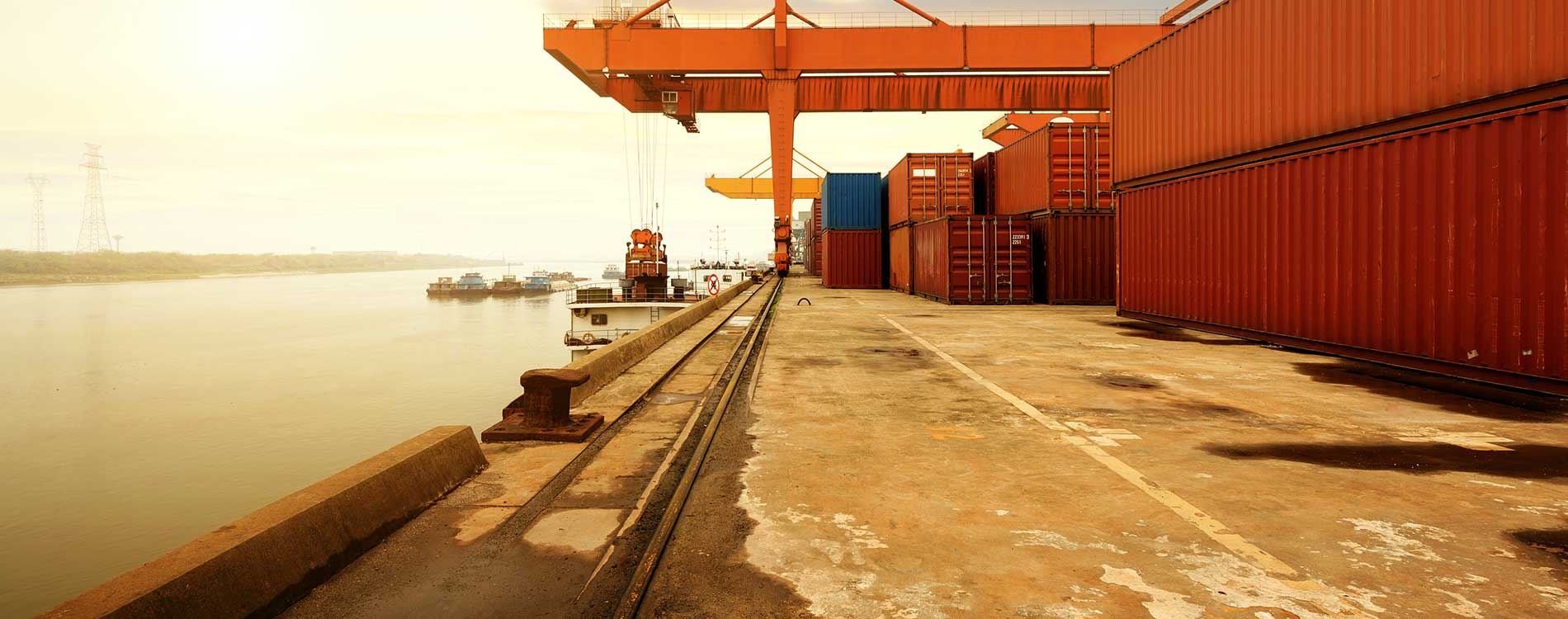 marine cargo yard