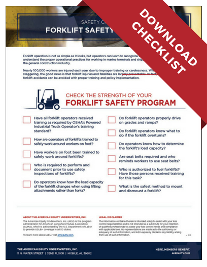 Download PDF - Forklift Safety Checklist